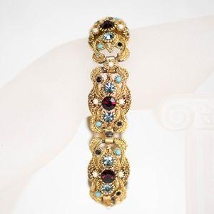 60's SPHINX Signed & Numbered Rhinestone Bracelet